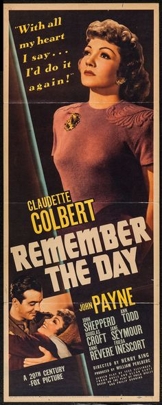 Remember the Day (20th Century Fox, 1941).