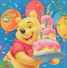 Winnie the pooh happy birthday images -cartoons winnie the pooh character Disney Winnie The Pooh, Winnie The Pooh Pictures, Winnie The Pooh Cake, Winne The Pooh, Winnie The Pooh Birthday, Winnie The Pooh Quotes, Birthday Greeting Cards, Birthday Greetings, Birthday Wishes