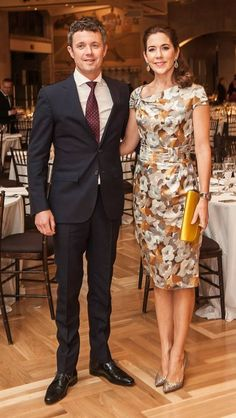 Crown Prince Frederik and Crown Princess Mary of Denmark attend a dinner in Canada 9/18/2014