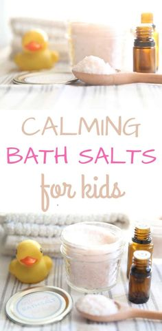 These calming bath salts for kids are made with 2 simple ingredients. Doterra, Wild Orange Essential Oil, Chamomile Essential Oil, Essential Oils, Nails Polish, Polish Food, Diy Wax, Christmas Scents, Lush Bath Bombs