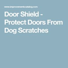 Diy tip of the day protecting doors from dog scratches protect door shield protect doors from dog scratches eventshaper