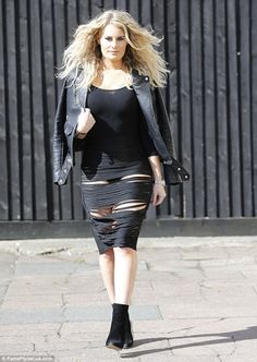 Daring to bare: Danielle Armstrong pushed her wardrobe in a more daring direction as she f...
