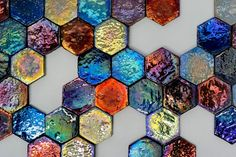 Christmas baubles😀 What do you all think? These glazed hexagons are nearly edible the glaze is so beautiful. Wall And Floor Tiles, Wall Tiles, Paper Installation, Splashback Tiles, Glazed Walls, Renaissance Artists, Christmas Baubles, Wall Decor, Flooring