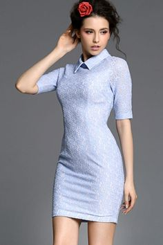 OL Lady Lace Bodycon Dress