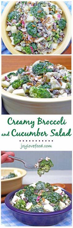 Creamy Broccoli and Cucumber Salad