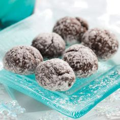 Chocolate Snowball Cookies Recipe from Taste of Home -- shared by Mary Lou Welsh of Hinsdale, Illinois
