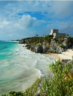 tulum, mexico, archeological and ancient Maya site, Photographer: Bruno Morandi // quintana roo Mexico Vacation, Mexico Travel, Need A Vacation, Dream Vacations, Places To Travel, Places To See, Beautiful World, Beautiful Places, Cancun Mexico