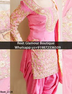 Gorgeous Pink Embroidered Punjabi suit Product Code : Reet_s128 To order, call/whatsapp on +919872336509 It will make you noticable in special gathering. Buy Link : https://www.facebook.com/reetglamourboutique/ We offer huge variety of Punjabi Suits, Anarkali Suits, Lehenga Choli, Bridal Suits,Saree, Gowns,etc.We Can also Design any Suit of your Own Design and any Color Combination