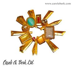 Mod, Sophisticated, Elegant and Funky  80's Christian LaCroix brooch   $395.