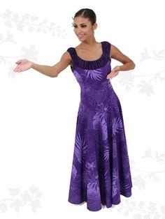 Hula Dress S405 - - | AlohaOutlet SelectShop Samoan Dress, Hawaiian People, Tahiti, New Dress Pattern, Different Dress Styles, Hawaiian Pattern, Island Wear, Hula, African Fashion