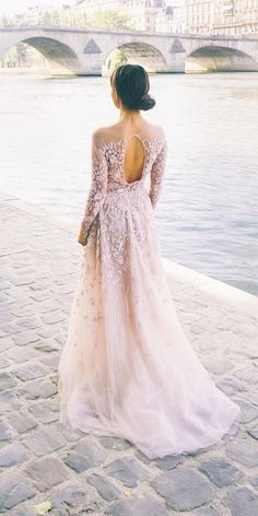 24 Peach & Blush Wedding Dresses You Must See ❤ See more: http://www.weddingforward.com/peach-blush-wedding-dresses/ #wedding #dresses #blush