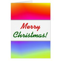 Christmas; Fun Multicolored Rainbow-Like Pattern Card - merry christmas diy xmas present gift idea family holidays