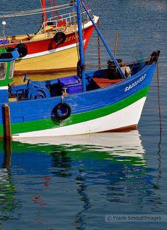 Chalutiers dans le port d'Erquy - Bretagne - France