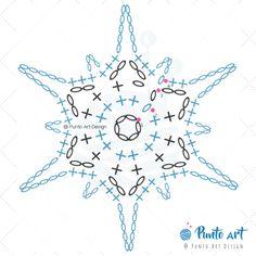 Crochet ideas that you'll love Free Crochet Snowflake Patterns, Crochet Symbols, Crochet Mandala Pattern, Crochet Stars, Christmas Crochet Patterns, Crochet Snowflakes, Crochet Flower Patterns, Crochet Diagram, Crochet Stitches Patterns