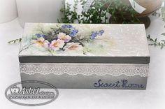 pudełko na herbatę - cartonnage z ryżowym papierem
