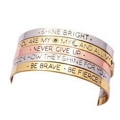 Fashion accessories jewelry brave letter wish design cuff bangle lovers' gift B3401