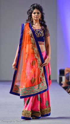 Indian weddings are all about a riot of colours and this one here with its gorgeous colour combinations fits the bill perfectly