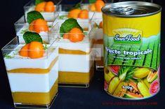Panna cotta cu jeleu de fructe tropicale - CAIETUL CU RETETE