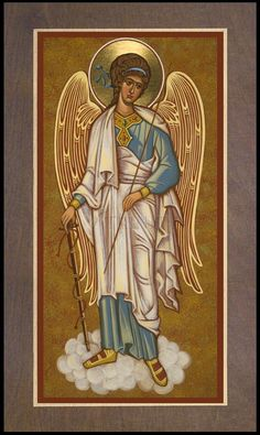 Wood Plaque Premium - Guardian Angel by J. Raphael Angel, Archangel Raphael, Archangel Gabriel, Religious Images, Religious Icons, Religious Art, Byzantine Icons, Byzantine Art, Archangel Prayers