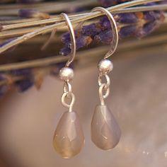 Tutti & Co Farrah Simple Stone Drop Earrings|lizzielane.co.uk £12