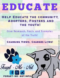 Not everybody can take a dog into their home. Not everybody has time to volunteer.   Is that you? But you still want to do your part to help? Educate people with facts!