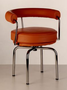 """Charlotte Perriand chair, Exhibited in Le Corbusier's program """"Domestic Equipment"""". Bauhaus Interior, Bauhaus Furniture, Charlotte Perriand, Le Corbusier, Classic Furniture, Modern Furniture, Furniture Design, Bauhaus Style, Metal Chairs"""
