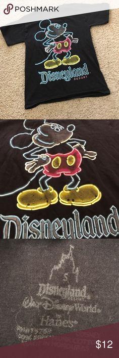 Neon Mickey Tee Good condition. Disney Tops Tees - Short Sleeve