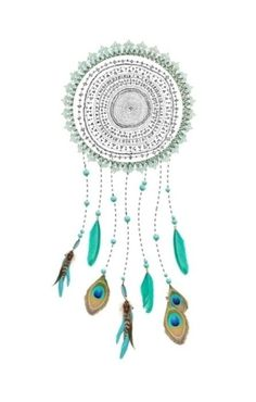 dream catcher, peacock feathers!
