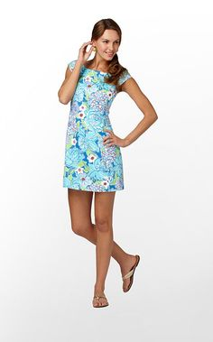 Allura Dress in Worth Blue May Flowers // Lilly Pulitzer $198.00