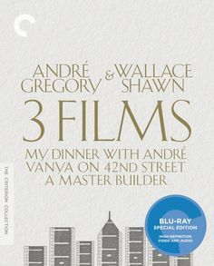 Andre Gregory & Wallace Shawn 3 Films: My Dinner with Andre, Vanya on 42nd Street, A Master Builder - Blu-Ray (Crieterion Region A) Release Date: June 16, 2015
