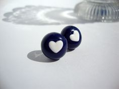 Polymer clay Cool & Cute mini heart earring by Stephshandmadebeads, €6.00