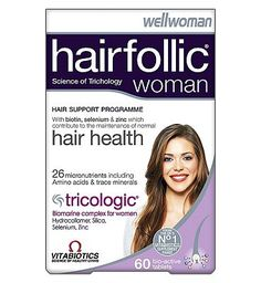 Vitabiotics Hairfollic Woman - 60 tablets 10092974 128 Advantage card points. Price per tablet when purchasing 3 Wellwoman Hairfolic 60 tablets using the 3 for 2 across selected vitamins, complementary medicines and herbal products - Only 0.40 per tab http://www.MightGet.com/february-2017-1/vitabiotics-hairfollic-woman--60-tablets-10092974.asp