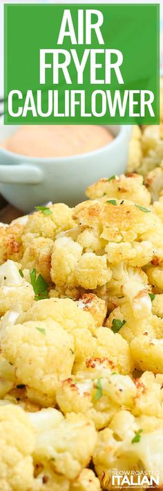 Air Fryer Cauliflower is a healthy way to prepare the keto-friendly veggie! Make this quick cauliflower recipe for a healthy snack or side dish. #AirFryer #Cauliflower Air Fry Recipes, Fun Easy Recipes, Side Dish Recipes, Low Carb Recipes, Real Food Recipes, Cooking Recipes, Healthy Recipes, Vegetable Dishes