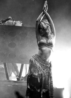 Shakira! She was actually my inspiration for learning how to bellydance : )
