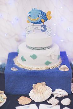 CAKE— Wedding Faeries Photography  Featured on Kara's Party Ideas #nauticalbirthday, #3rdbirthday, #birthdayparty, #nauticalcake