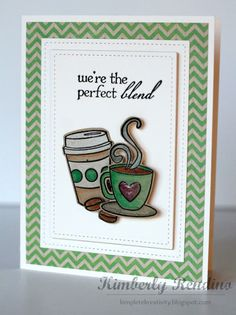 Coffee card by Kimberly Rendino | kimpletekreativity.blogspot.com