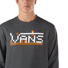 Vans Nintendo Mario Crew Sweatshirt Charcoal Heather