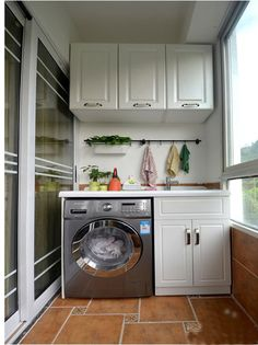Laundry Room Ideas: An Extra Function for Your Balcony - Unique Balcony & Garden Decoration and Easy DIY Ideas Laundry Room Design, Home Room Design, Bathroom Design Small, Interior Design Kitchen, House Design, Outdoor Laundry Rooms, Small Laundry Rooms, Indian Home Interior, Indian Home Decor