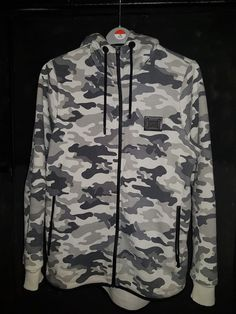 Supply And Demand Men s Camouflage Charge Hoody Jacket Size S Black Grey  White  SupplyDemand   a2d1a2f31a1