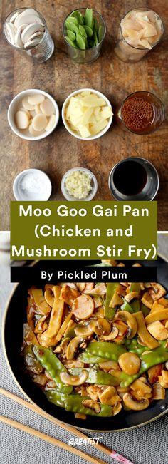 4. Moo Goo Gai Pan (Chicken and Mushroom Stir-Fry) #greatist http://greatist.com/eat/easy-stir-fry-recipes-to-make-during-the-week