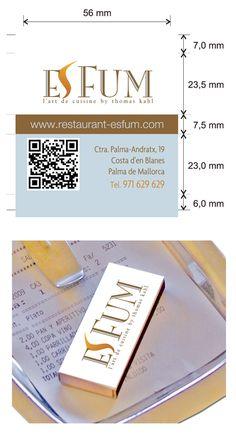 """Propuesta diseño cajas de cerillas modelo """"Hotel"""" para el restaurante Es Fum en Costa d'en Blanes (Mallorca). Costa, Model, Match Boxes, Proposals, Restaurants, Kitchens, Majorca"""