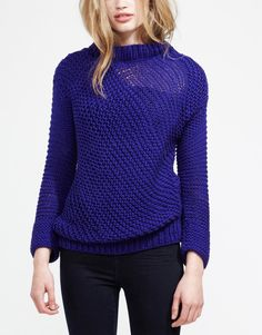Seastarsweater ultraviolet 1 wool and the gang