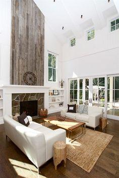 Contemporary Farmhouse - farmhouse - living room - san francisco - KCS, Inc. High ceilings!