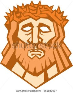 Buy Jesus Christ Face with Crown of Thorns by patrimonio on GraphicRiver. Illustration of Jesus Christ face with crown of thorns set on isolated white background done in retro style. People Illustration, Graphic Illustration, Retro Illustrations, People Icon, Retro Vector, Crown Of Thorns, Jesus Christ, Savior, Easy Drawings