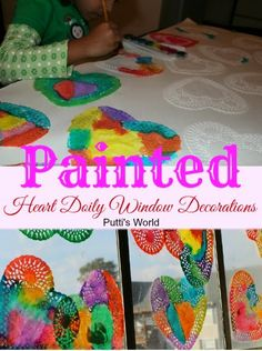 Painting doilies with watercolors is such a simple art activity for kids, yet the process is fun and the results are beautiful.
