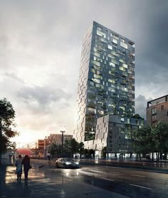 2ND PRIZE: blauraum architekten. Image courtesy of Porsche Design Tower Frankfurt.