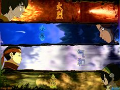 "Avatar: The Last Airbender. ♥  The colors and the layout and the look of resolution on their faces.  Poor Sokka has the power of ""Heart"" though."