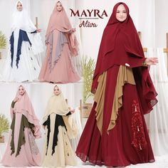 Aliva Syari by Mayra Muslimah Clothing, Baby Dolls, Formal Dresses, Womens Fashion, Instagram Posts, Clothes, Temples, Dresses For Formal, Outfits