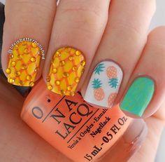 24 Beautiful Pineapple Nail Art Designs 2015  #nailartdesigns2015 #naildesigns #pineapplenails