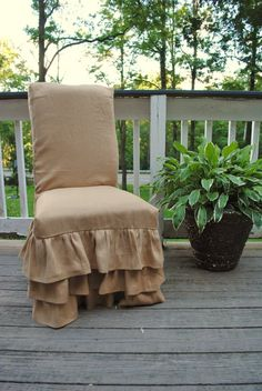 Toile And Ticking Chair Cover Chair Cover Chair Covers